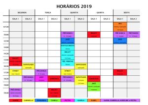 Horários 2019